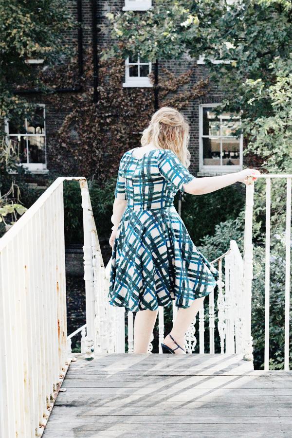 checked retro dress