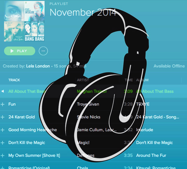 free spotify playlist november 2014