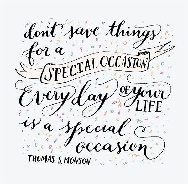 special occasion quote