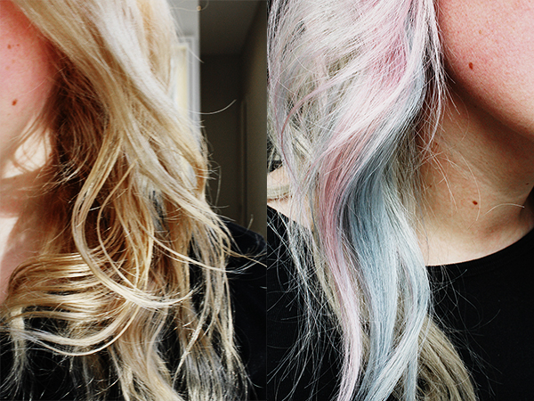 before and after mermaid hair