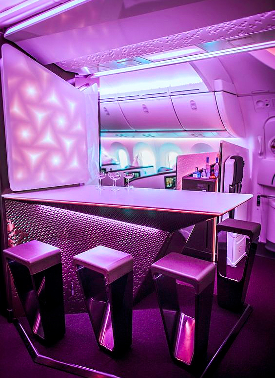 virgin atlantic pink bar