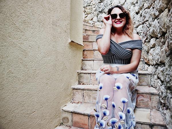 mesh skirt fashion blogger