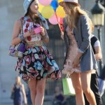 Leighton Meester and Blake Lively in Paris