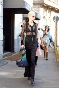 Milan Fashion Week Street Style Abbey Lee